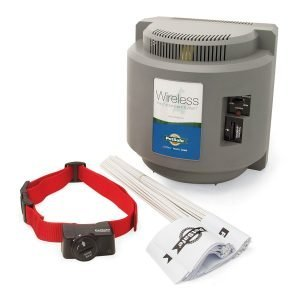 Another PetSafe wireless canine containment system with a 1/2 acre radius and 5 levels of correction.