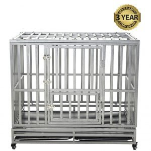 Best Dog Crate Overall: LUCKUP Heavy Duty Dog Cage.
