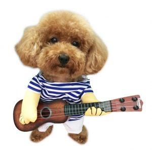 NACOCO Pet Guitar Costume Dog Costume.