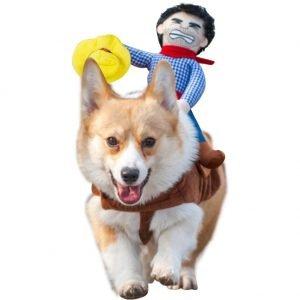NACOCO Cowboy Rider Dog Costume.