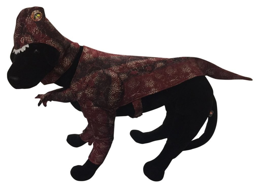 Raptor dog costume.