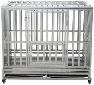 LUCKUP heavy duty dog cage.