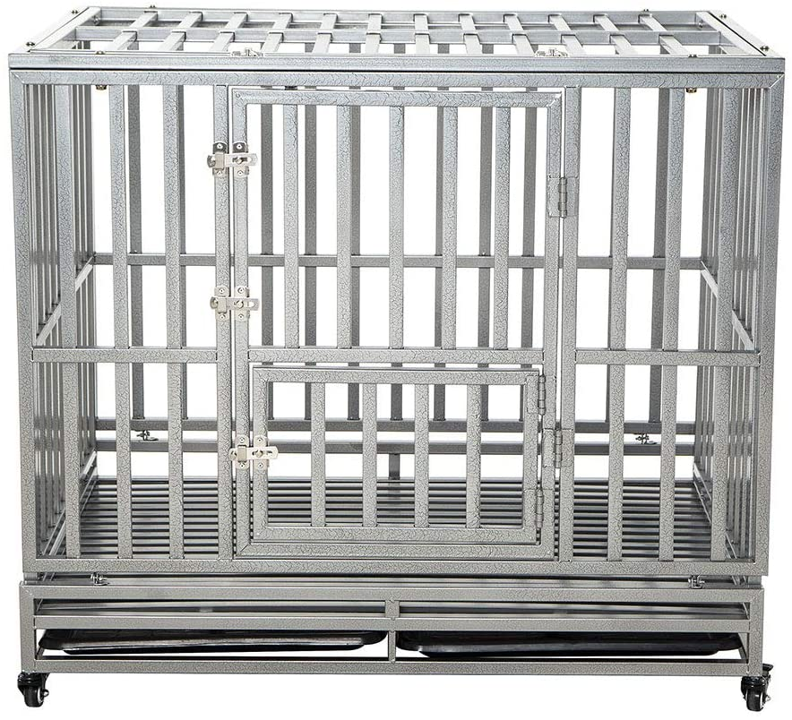 LUCKUP heavy duty dog crate.