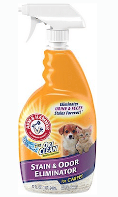 Arm & Hammer Plus Oxiclean Pet Stain & Odor Eliminator.