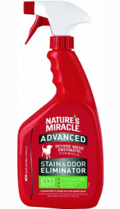 Nature's Miracle Advanced Dog Stain and Odor Remover Spray.