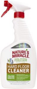 Best pet stain remover: Nature's Miracle Hard Floor Cleaner.