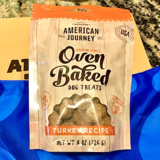 American Journey Turkey Recipe Grain-Free Oven Baked Crunchy Biscuit Dog Treats.