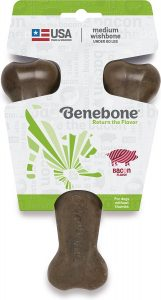 Benebone Bacon Flavor Wishbone Tough Dog Chew Toy.
