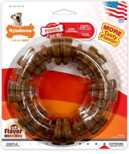 Nylabone DuraChew Textured Ring Flavor Medley Dog Chew Toy.