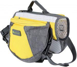 Wellver Dog Backpack Saddle Bag Travel Pack.