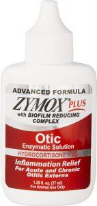 Zymox Plus Advanced Formula 1% Hydrocortisone Otic Dog & Cat Ear Solution.