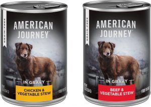 American Journey Stews Poultry & Beef Variety Pack Grain-Free Canned Dog Food.