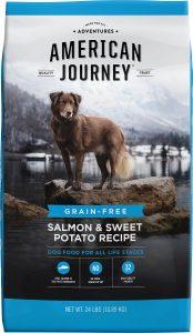 American Journey Salmon & Sweet Potato Recipe Grain-Free Dry Dog Food.