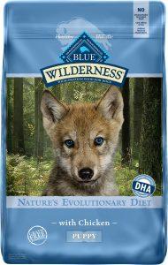 Blue Buffalo Wilderness Puppy Chicken Recipe Grain-Free Dry Dog Food.