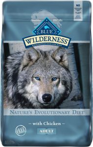 Blue Buffalo Wilderness Chicken Recipe Grain-Free Dry Dog Food.