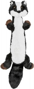 Frisco Skinny Plush Squeaking Skunk Dog Toy.