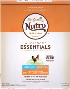 Nutro Wholesome Essentials Large Breed Puppy Farm-Raised Chicken, Brown Rice & Sweet Potato Recipe Dry Dog Food.