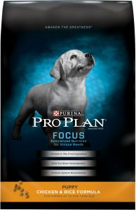 Best Puppy Food: Purina Pro Plan Focus.