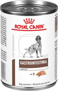 Royal Canin Veterinary Diet Gastrointestinal Low Fat Canned Dog Food.