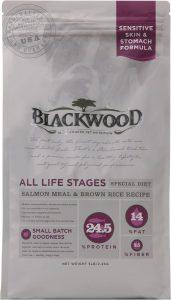 Blackwood Salmon Meal & Brown Rice Recipe Sensitive Skin & Stomach Formula Dry Dog Food.