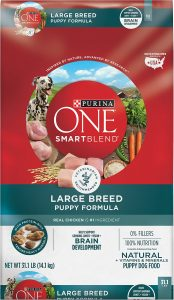 Purina ONE SmartBlend Large Breed Puppy Formula Dry Dog Food.