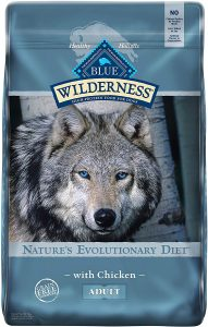 Blue Buffalo Wilderness High Protein, Natural Adult Dry Dog Food.