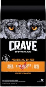 Best dog food for pitbulls: Crave.