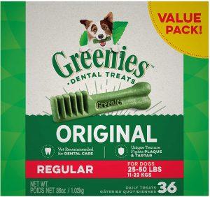 Best dental chews for dogs: Greenies.