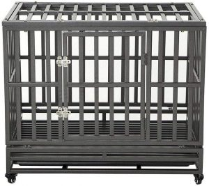 Our favorite heavy duty dog crate: LUCKUP.