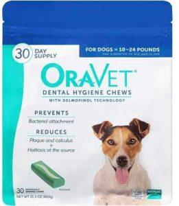 Oravet Dental Hygiene Chews for Small Dogs.