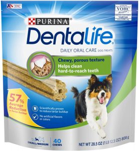Purina DentaLife Small/Medium Adult Dental Dog Chew Treats.
