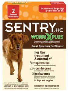 Best dog dewormer: Sentry HC Worm X Plus.