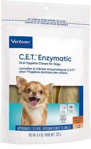 Virbac CET Enzymatic Oral Hygiene Chews for Dogs.