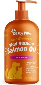 Best fish oil for dogs: Zesty Paws.