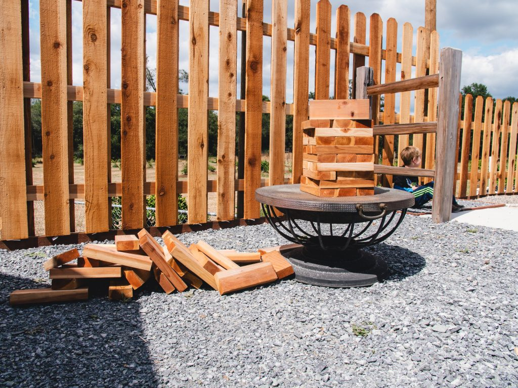 Building blocks for a fence.
