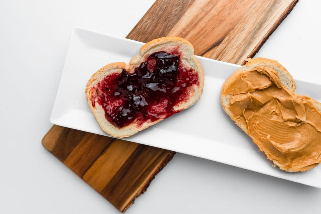 Peanut butter and jelly.