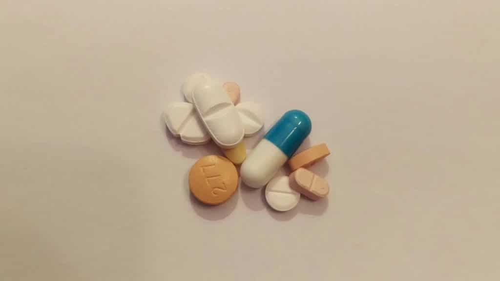 Assorted capsules and pills.