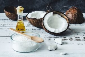 Coconut and oil.