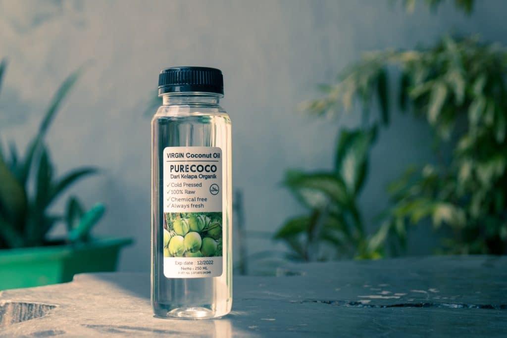 Coconut oil in a bottle.