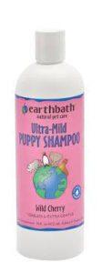 Earthbath Ultra-Mild Puppy Shampoo and Conditioner, Wild Cherry.