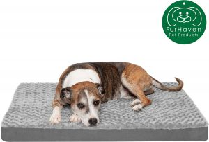 FurHaven NAP Ultra Plush Orthopedic Deluxe Cat & Dog Bed w/ Removable Cover.