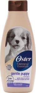 Oster Oatmeal Essentials Gentle Puppy Shampoo.