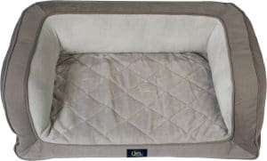 Serta Quilted Orthopedic Bolster Dog Bed w/ Removable Cover.