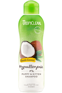 TropiClean Hypo-Allergenic Gentle Coconut Puppy & Kitten Shampoo.