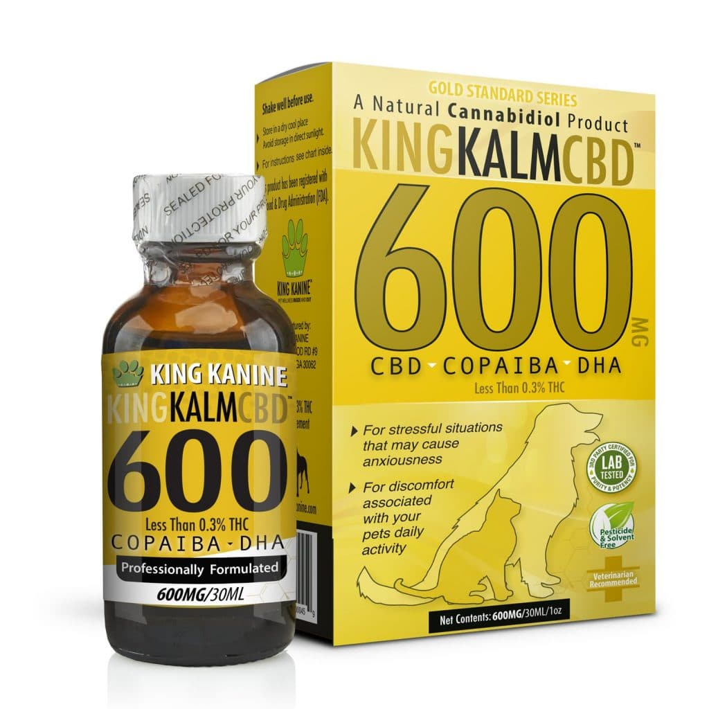 King Kalm CBD with Copaiba & Krill Oil and DHA.